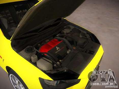 Mitsubishi Lancer Evo X Tunable para GTA San Andreas vista traseira
