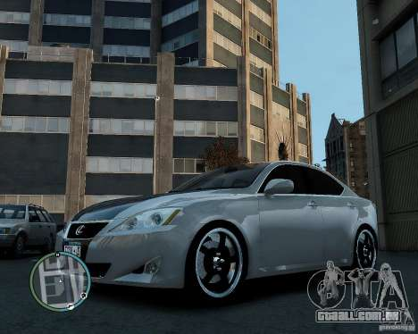 Lexus IS350 2006 v.1.0 para GTA 4 vista direita