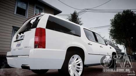Cadillac Escalade ESV para GTA 4 traseira esquerda vista