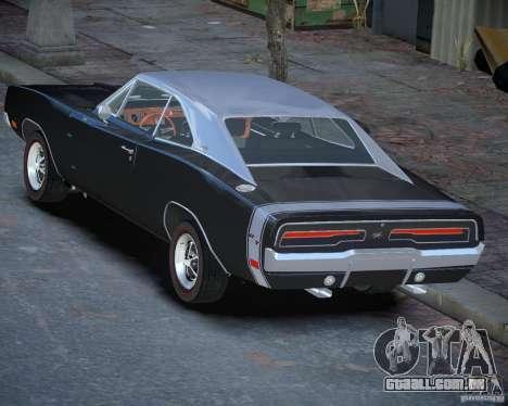 Dodge Charger RT Stock [EPM] para GTA 4 traseira esquerda vista