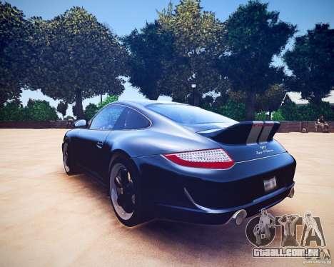 Porsche 911 Sport Classic 2011 v2.0 para GTA 4 vista de volta