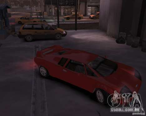 Infernus - Vice City para GTA 4 vista de volta
