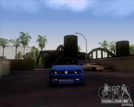 Volkswagen Golf GTi 2003 para GTA San Andreas traseira esquerda vista