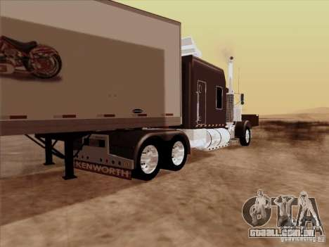 Kenworth W900 Long para GTA San Andreas vista direita
