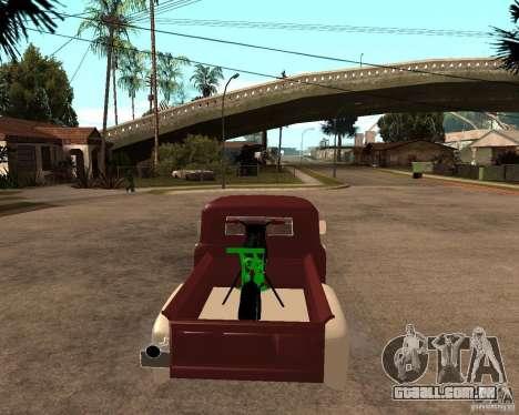 ZIL 130 Tempe ardente Final para GTA San Andreas traseira esquerda vista