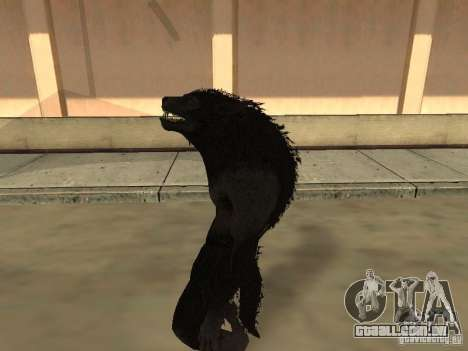Werewolf from The Elder Scrolls 5 para GTA San Andreas por diante tela