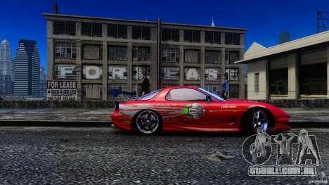 Mazda RX-7 FnF para GTA 4 traseira esquerda vista