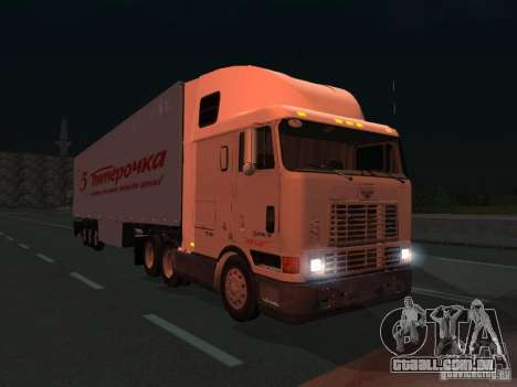 International Navistar 9800 para GTA San Andreas traseira esquerda vista