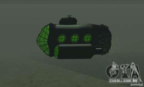 Submarino para GTA San Andreas vista direita