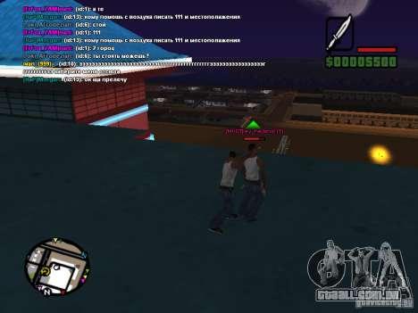 Faca de CLEO para GTA San Andreas terceira tela
