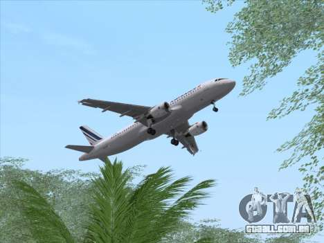 Airbus A320-211 Air France para vista lateral GTA San Andreas