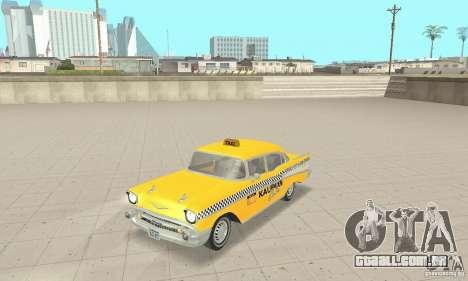 Chevrolet Bel Air 4-door Sedan Taxi 1957 para GTA San Andreas
