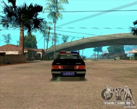 Vaz 2115 DPS para GTA San Andreas vista direita