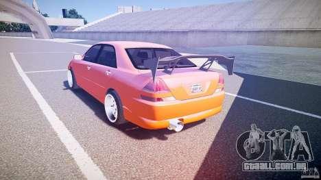 Toyota JZX110 para GTA 4 traseira esquerda vista