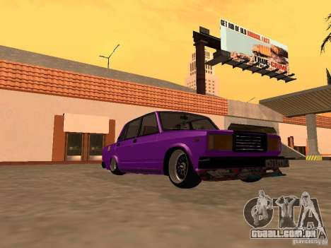 JDM VAZ 2107 para GTA San Andreas vista traseira