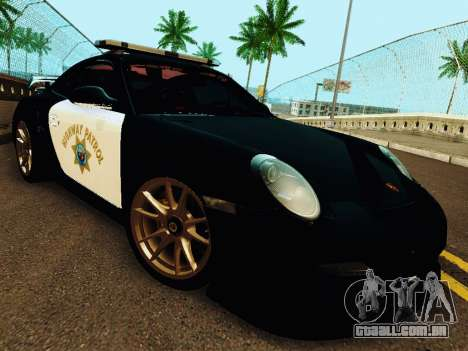 Porsche 911 GT2 RS (997) Police para GTA San Andreas esquerda vista