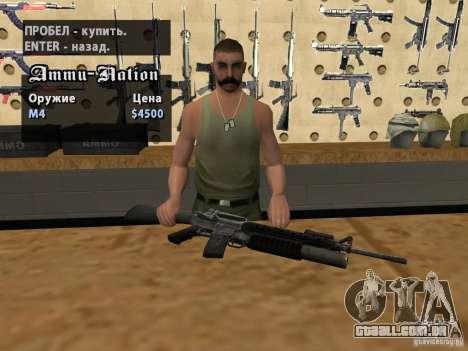 M16 com um M203 para GTA San Andreas