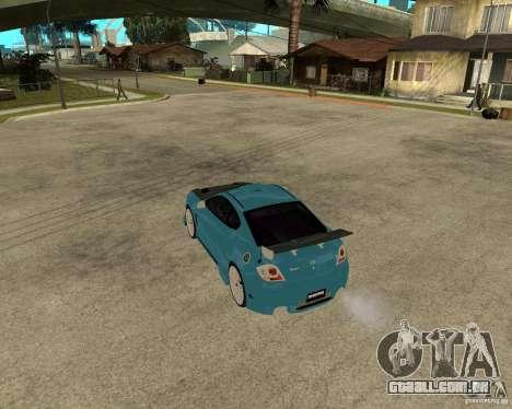 Hyundai Tibuton V6 GT para GTA San Andreas traseira esquerda vista