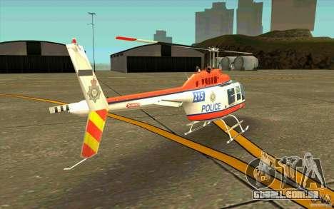 Bell 206 B Police texture2 para GTA San Andreas vista direita