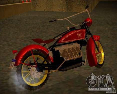 1923 ACE 1200cc para GTA San Andreas traseira esquerda vista