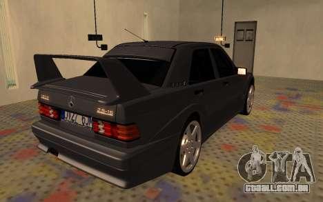 Mercedes-Benz 190E Evolution II 2.5 1990 para GTA San Andreas traseira esquerda vista