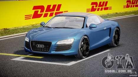 Audi R8 Spyder v2 2010 para GTA 4 vista de volta
