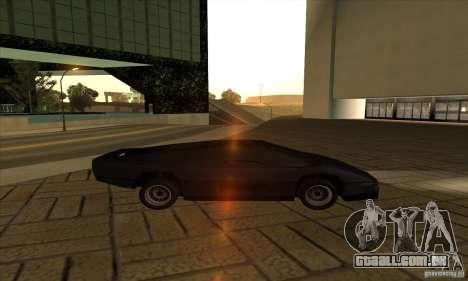 Dodge M4S Turbo Interceptor Wraith 1984 para GTA San Andreas esquerda vista