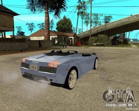Lamborghini Concept-S para GTA San Andreas traseira esquerda vista