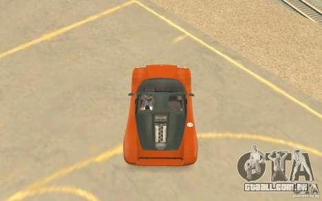 Veloche carro para vista lateral GTA San Andreas