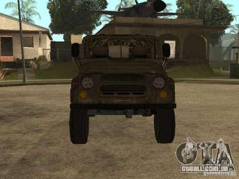 UAZ 469 para GTA San Andreas esquerda vista