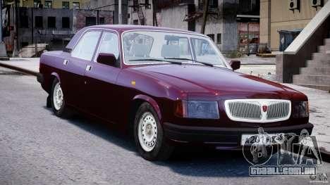 GAZ 3110 Volga para GTA 4 vista de volta