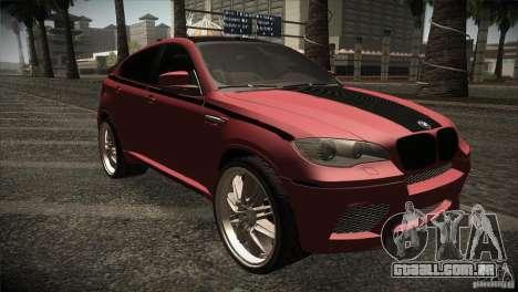 BMW X6 Lumma para GTA San Andreas vista interior
