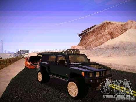 Hummer H3R para GTA San Andreas vista traseira