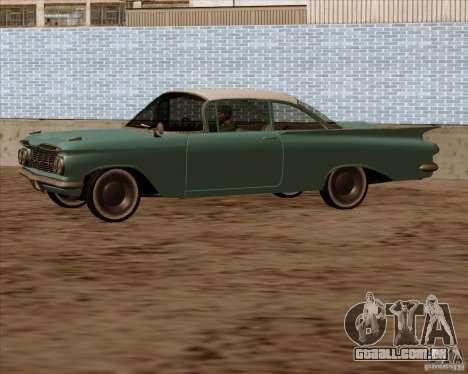 Chevrolet Impala 1959 para GTA San Andreas vista traseira