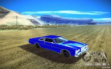Ford LTD Coupe 1975 para GTA San Andreas vista traseira