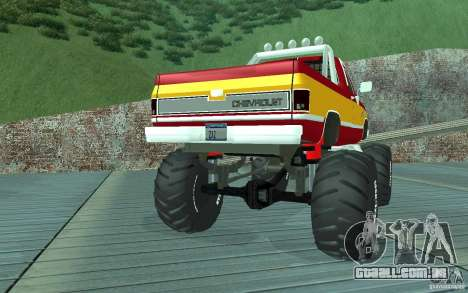 Chevrolet Silverado 2500 MonsterTruck 1986 para GTA San Andreas vista direita