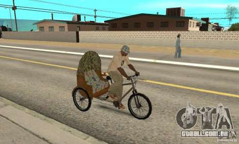 Manual Rickshaw v2 Skin2 para GTA San Andreas vista direita