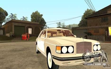 Bentley Turbo RT para GTA San Andreas vista traseira