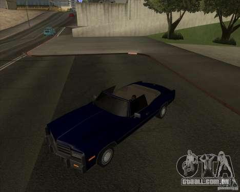 HD Esperanto para GTA San Andreas traseira esquerda vista