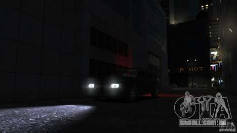 VAZ 2109 luz tuning para GTA 4 vista lateral