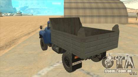 ZIL-MMZ 4502 movimentação de quatro rodas para GTA San Andreas traseira esquerda vista