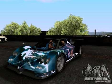 Pagani Zonda EX-R para vista lateral GTA San Andreas