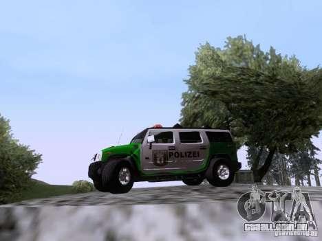 Hummer H2 Polizei para GTA San Andreas esquerda vista