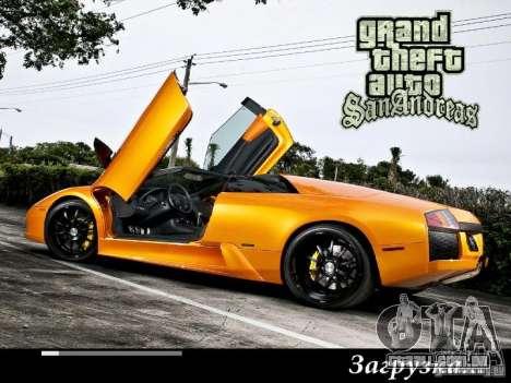 Novas telas de carregamento 2011 para GTA San Andreas por diante tela