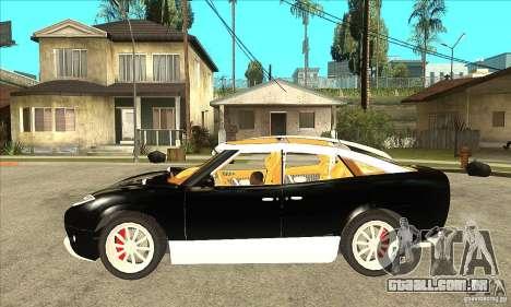 Spyker D8 Peking-to-Paris para GTA San Andreas esquerda vista