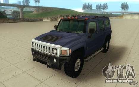 Hummer H3 para GTA San Andreas vista traseira