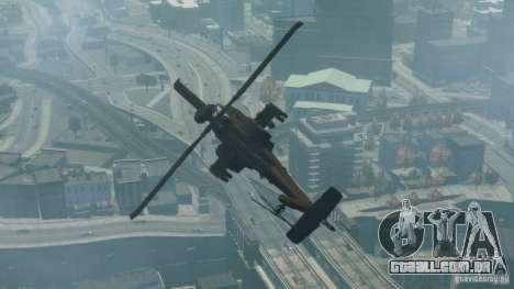 AH-64D Longbow Apache v1.0 para GTA 4 traseira esquerda vista
