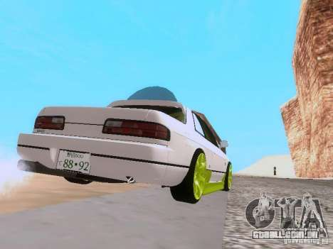 Nissan Silvia S13 Drift Style para GTA San Andreas vista traseira