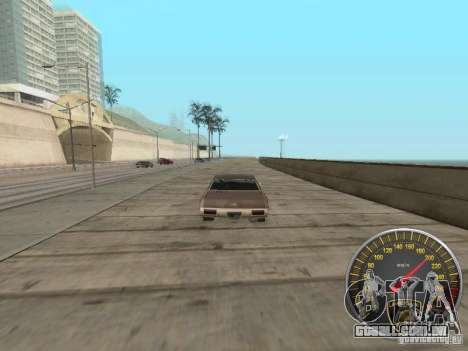 Lamborghini velocímetro para GTA San Andreas por diante tela