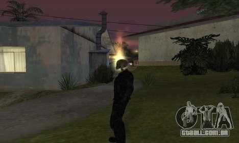 Motoqueiro Fantasma para GTA San Andreas segunda tela